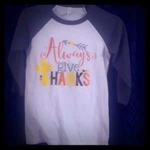 Screen Printed 3/4 sleeves baseball style t-shirt